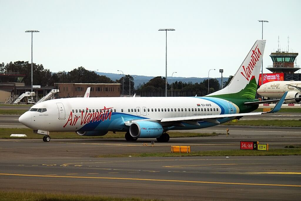 Air Vanuatu YJ AV8 Boeing 737 800 at Sydney Airport