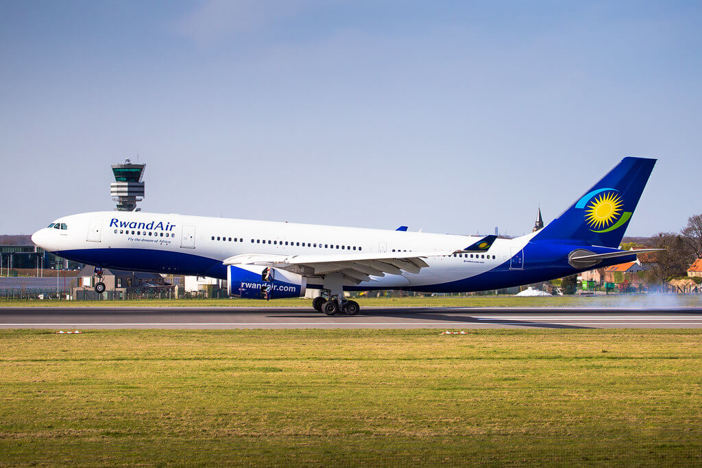 Airbus A330 243 9XR WN Rwandair Ubumwe at Brussels Airport