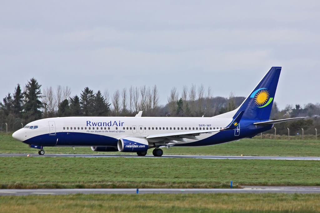 RwandAir 9XR WF Boeing 737 800