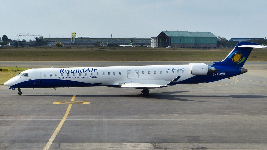 RwandAir 9XR WH Bombardier CRJ 900 at Nairobi Jomo Kenyatta International Airport