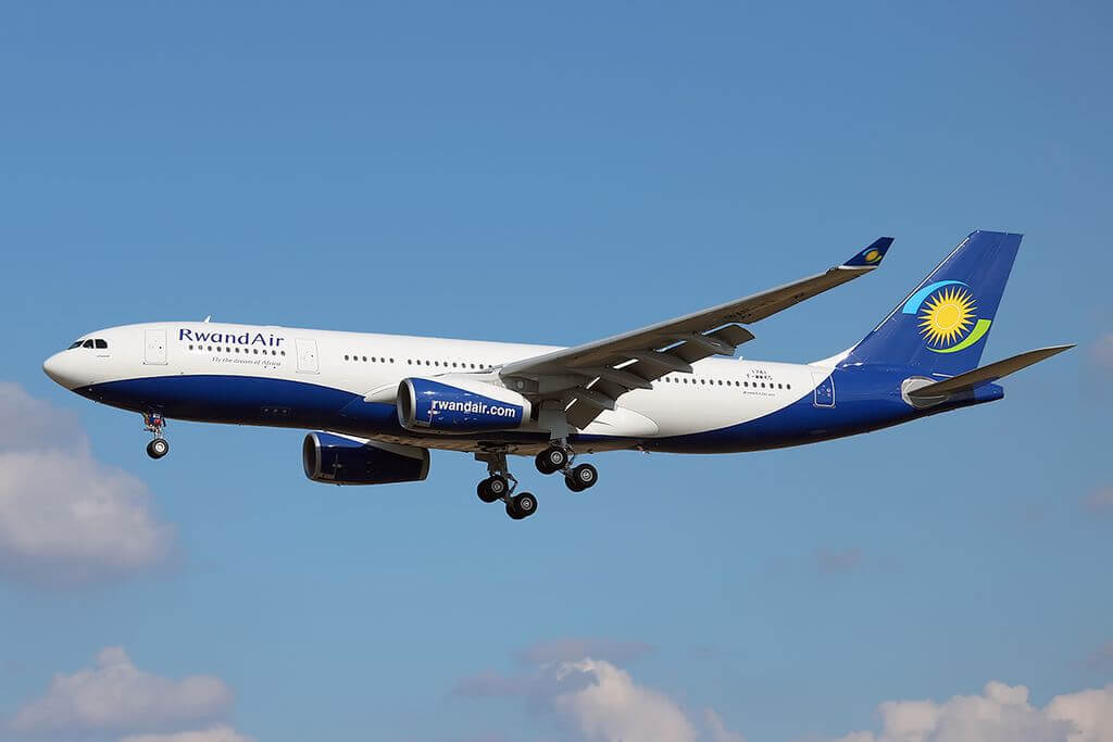 RwandAir 9XR WN Airbus A330 243 Ubumwe at Toulouse Blagnac International Airport