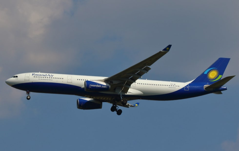 RwandAir 9XR WP Airbus A330 300 Umurage at Brussels Airport