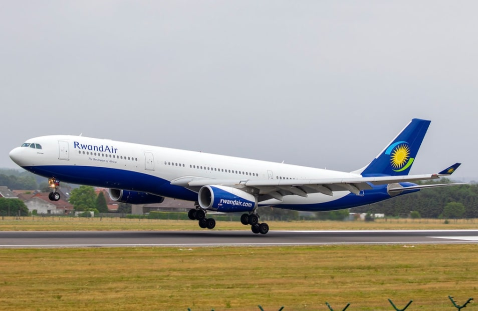 RwandAir 9XR WP Airbus A330 300 Umurage at Brussels