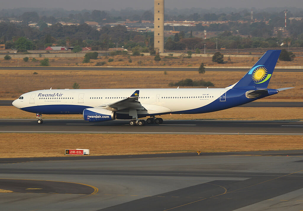 RwandAir 9XR WP Airbus A330 300 Umurage at Johannesburg
