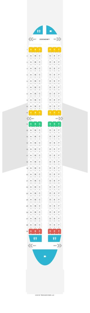 Seat Map and Seating Chart Air Arabia Airbus A320 200