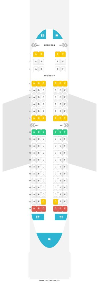 Seat Map and Seating Chart RwandAir Boeing 737 700