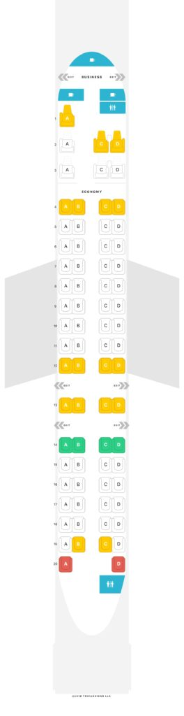 Seat Map and Seating Chart RwandAir Bombardier CRJ 900