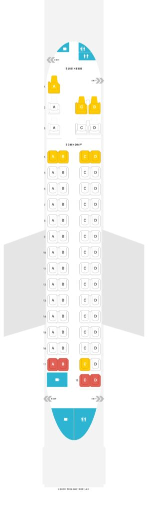 Seat Map and Seating Chart RwandAir Bombardier Dash 8 Q400