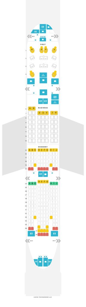 Seat Map and Seating Chart TAAG Angola Airlines Boeing 777 200ER