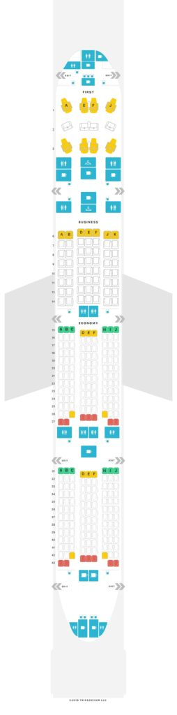 Seat Map and Seating Chart TAAG Angola Airlines Boeing 777 300ER