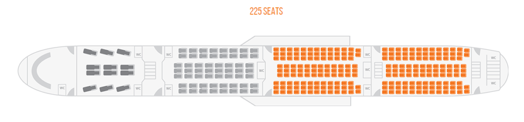 TAAG Angola Airlines Boeing 777 300ER Economy Class Seat Plan