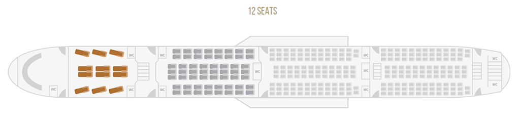 TAAG Angola Airlines Boeing 777 300ER First Class Seat Plan