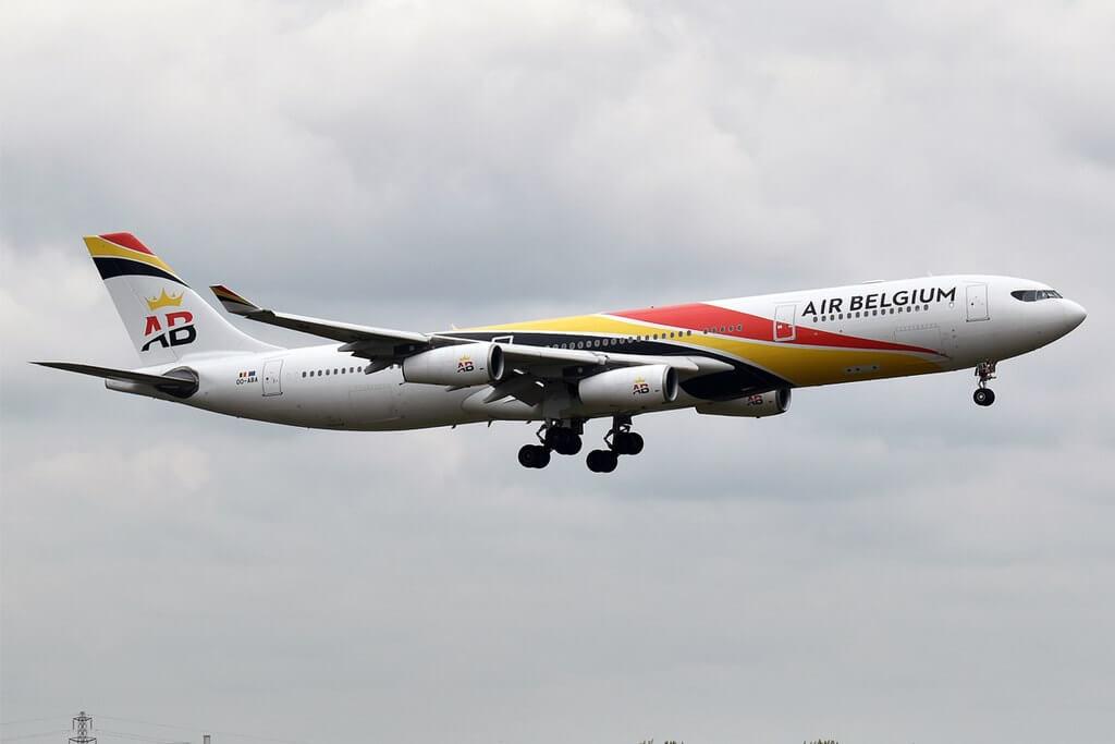 Air Belgium OO ABA Airbus A340 313 at London Heathrow Airport