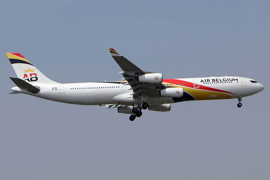 Air Belgium OO ABB Airbus A340 313 at LHR