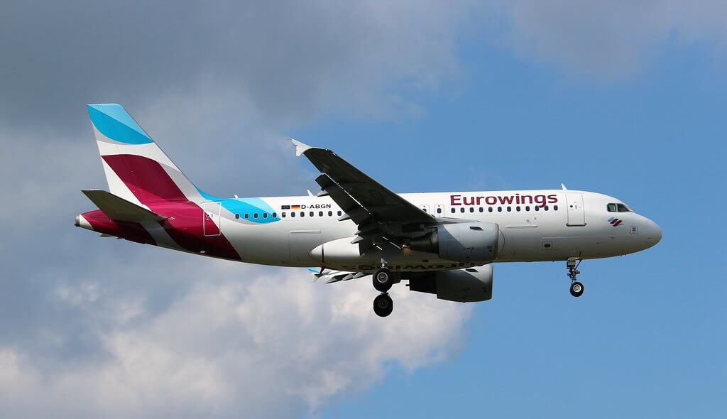 Airbus A319 112 Eurowings D ABGN at London Heathrow Airport