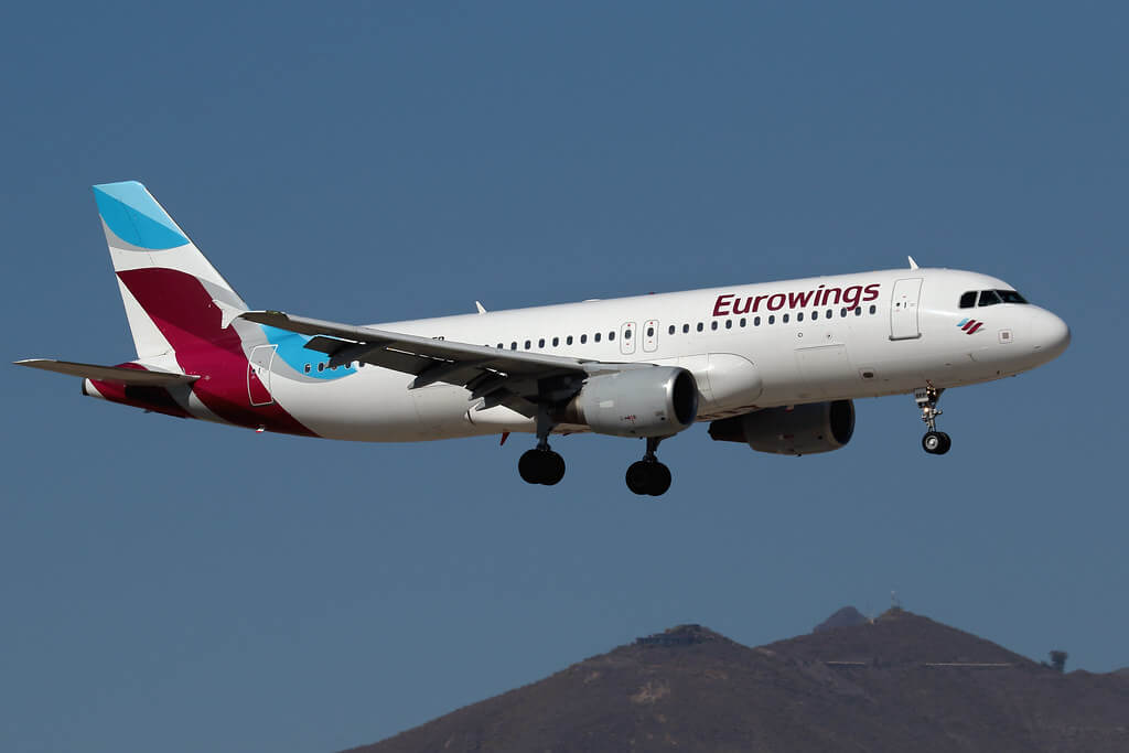 Airbus A320 214 Eurowings D ABFP at Tenerife Sur TFS GCTS Canary Islands Spain
