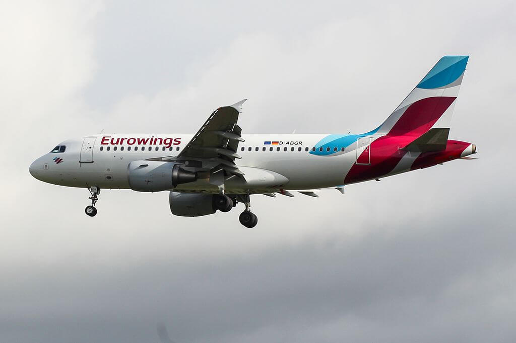 D ABGR Airbus A319 100 of Eurowings at London Heathrow Airport