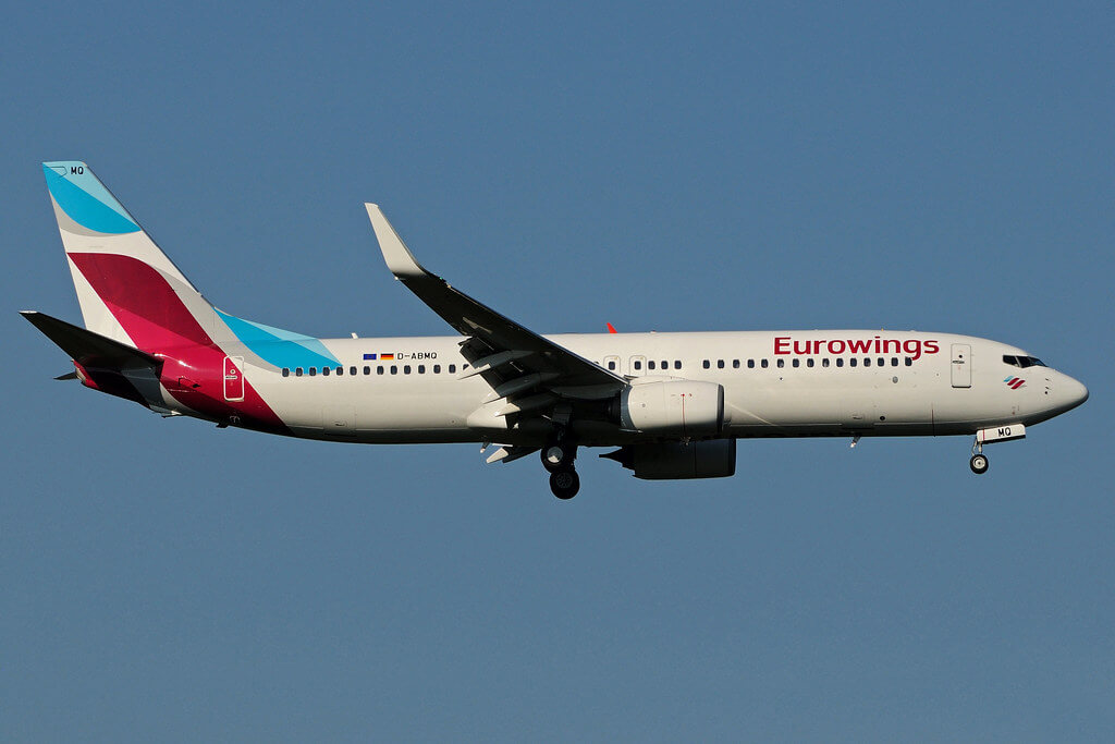 D ABMQ Boeing B 737 86JW Eurowings leased from AWAS operated by TUIFly at Cologne Bonn Airport CGN