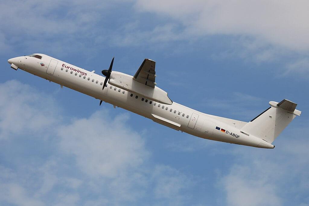 D ABQF Bombardier Dash 8 Q400 Eurowings Luftfahrtgesellschaft Walter LGW at Dusseldorf Airport