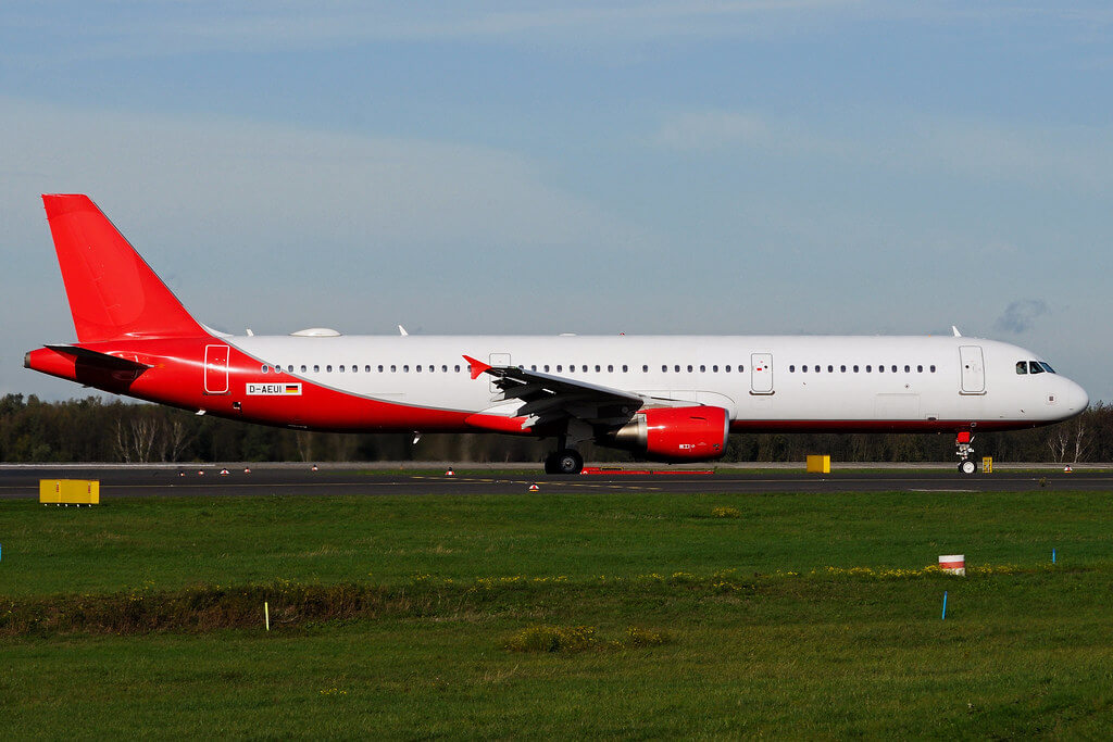 D AEUI Airbus A321 211 Eurowings ex Air Berlin at Duesseldorf International Airport DUS