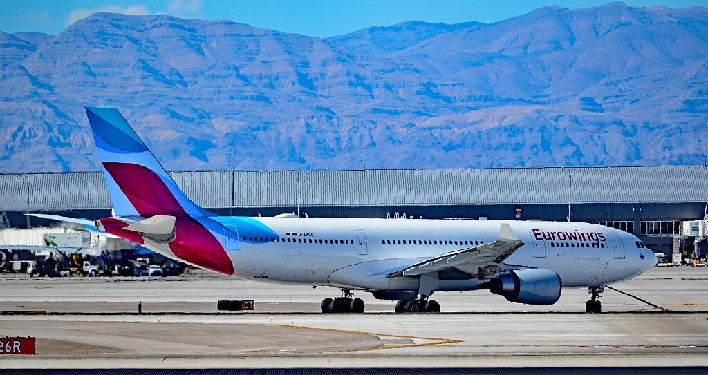 D AXGC Eurowings Airbus A330 203 at McCarran International Airport
