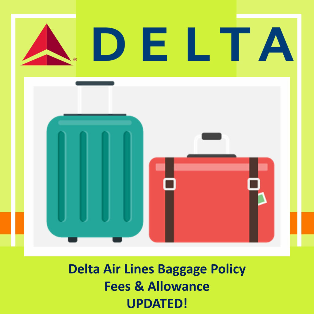 Delta Air Lines Baggage Policy Fees Allowance
