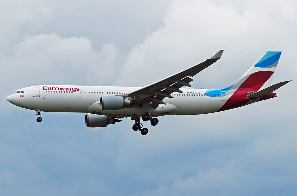 Eurowings Airbus A330 200 D AXGD at Munich Franz Josef Strauss