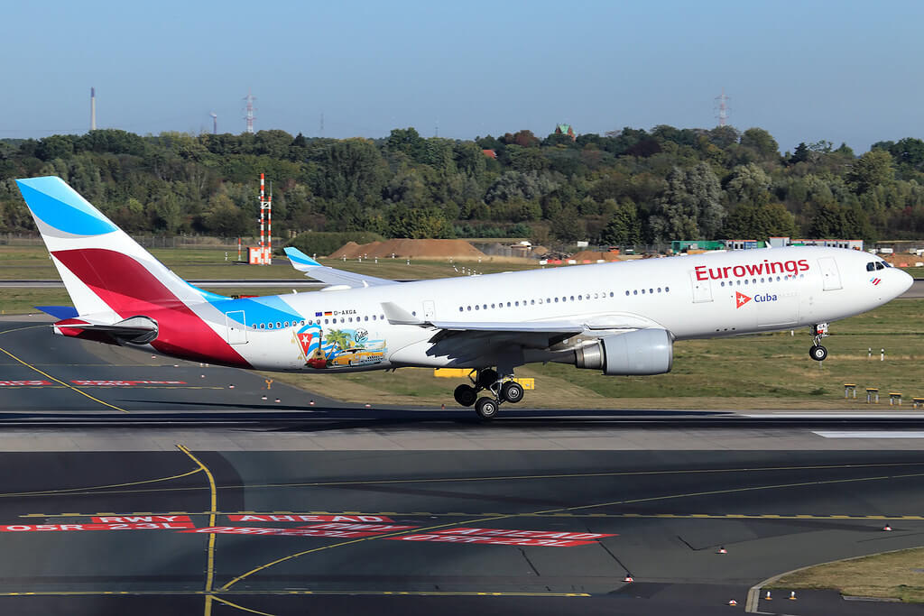 Eurowings Airbus A330 203 D AXGA at Dusseldorf Airport