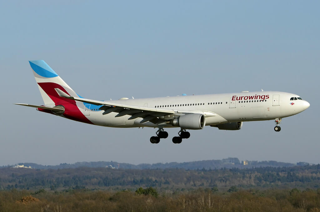 Eurowings Airbus A330 203 D AXGB at Cologne Bonn Airport
