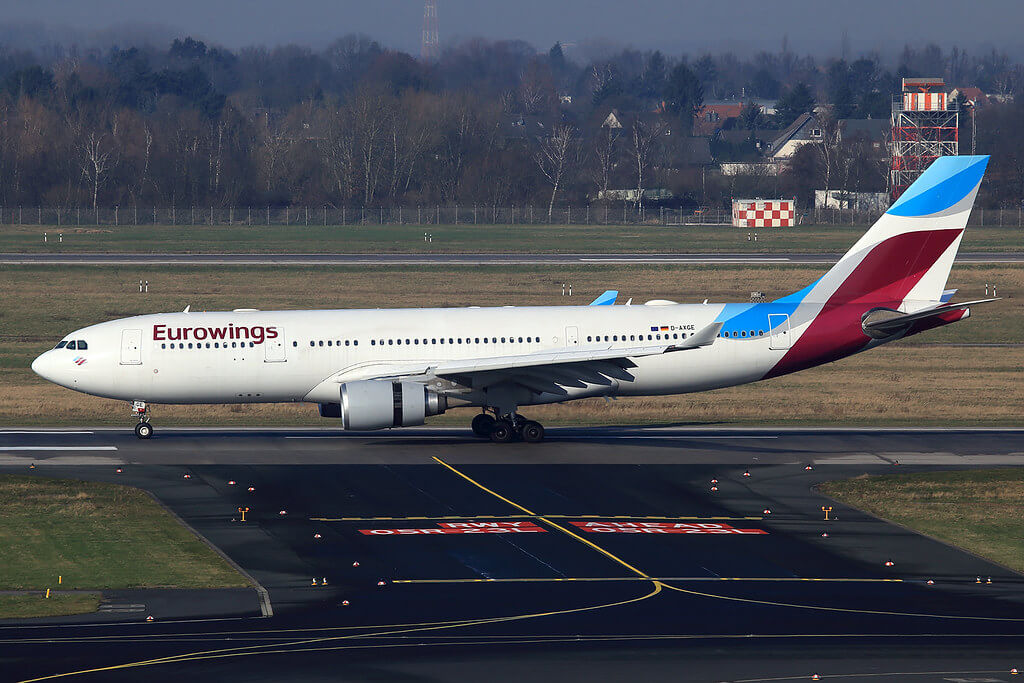 Eurowings Airbus A330 203 D AXGE at Dusseldorf