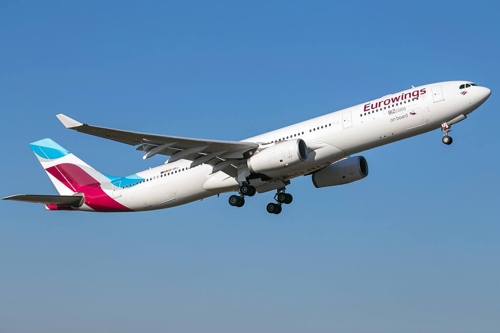 Eurowings Airbus A330 343 OO SFJ at Brussels Airport Zaventem