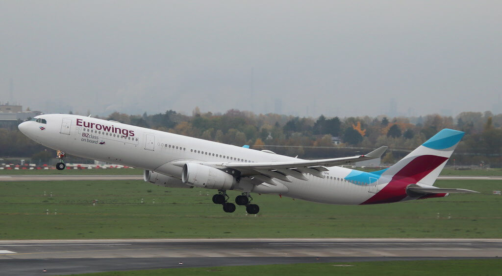 Eurowings Brussels Airlines OO SFK Airbus A330 343 at Dusseldorf