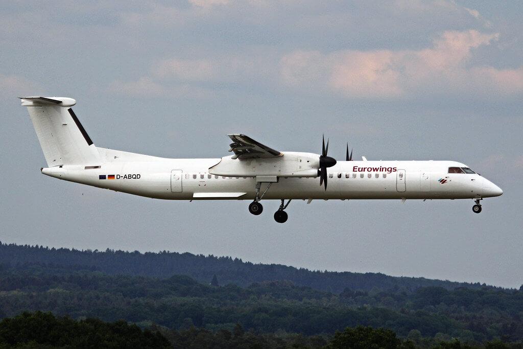 Eurowings D ABQD Bombardier DHC 8 400 LGW Luftfahrtgesellschaft Walter at Cologne Bonn