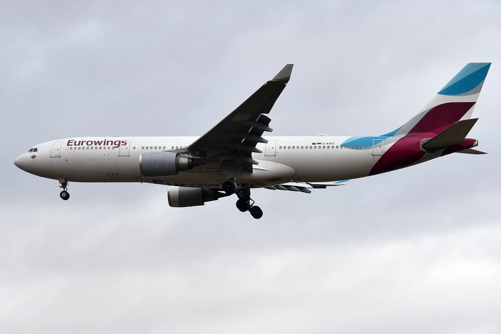 Eurowings D AXGG Airbus A330 203 at Munich Airport