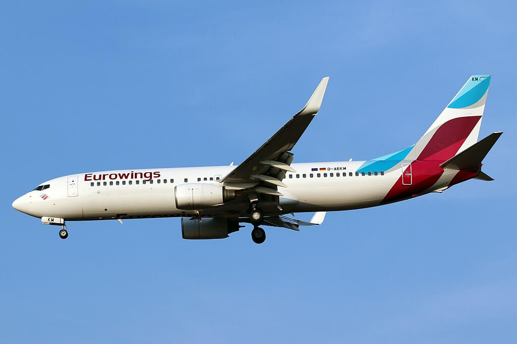 Eurowings TUIfly Boeing 737 800 D ABKM at Cologne Bonn Airport