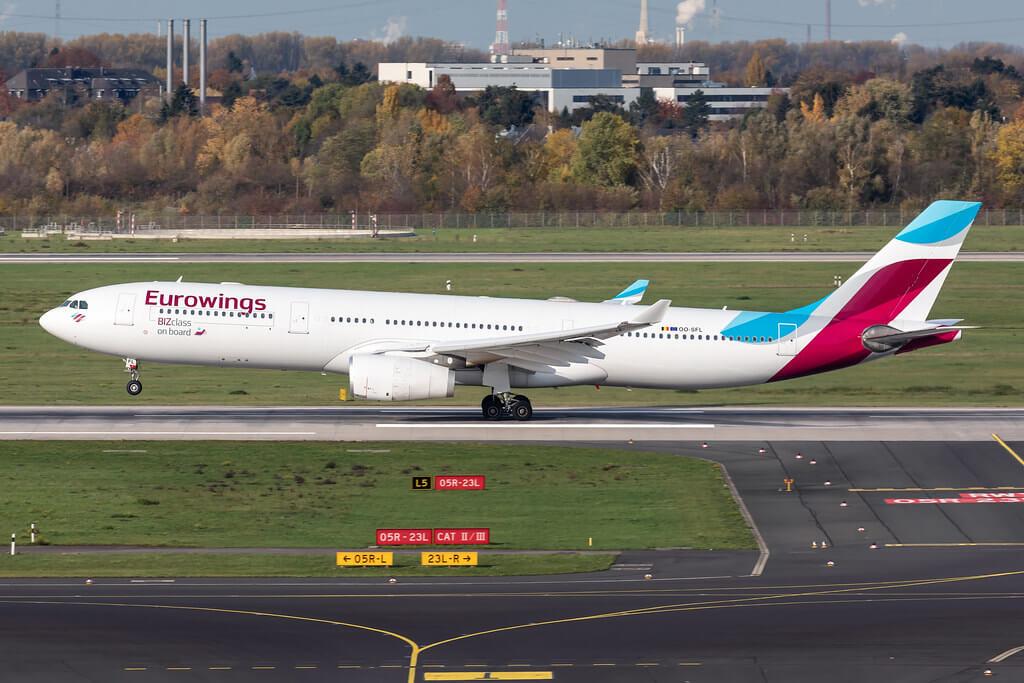 OO SFL Eurowings Airbus A330 343 at Dusseldorf Airport