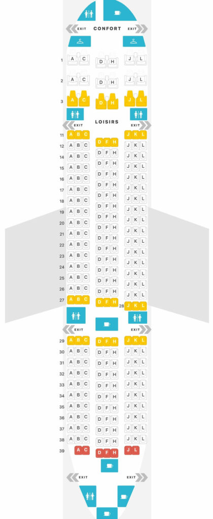 Seat Map and Seating Chart Air Austral Boeing 787 8 Dreamliner