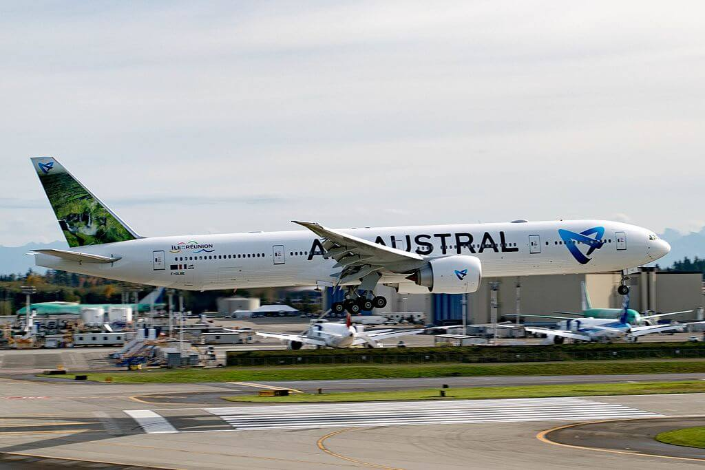 Air Austral Boeing 777 39MER F OLRE at Paine Field