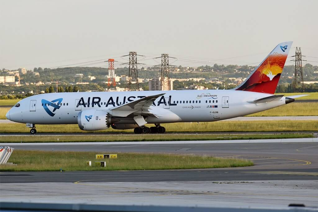 Air Austral F OLRB Boeing 787 8 Dreamliner at Paris Charles de Gaulle Airport