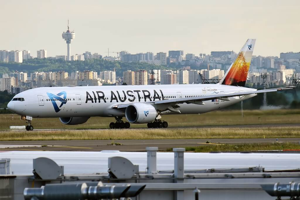 Air Austral F OLRD Boeing 777 39M ER at Paris Charles de Gaulle Airport