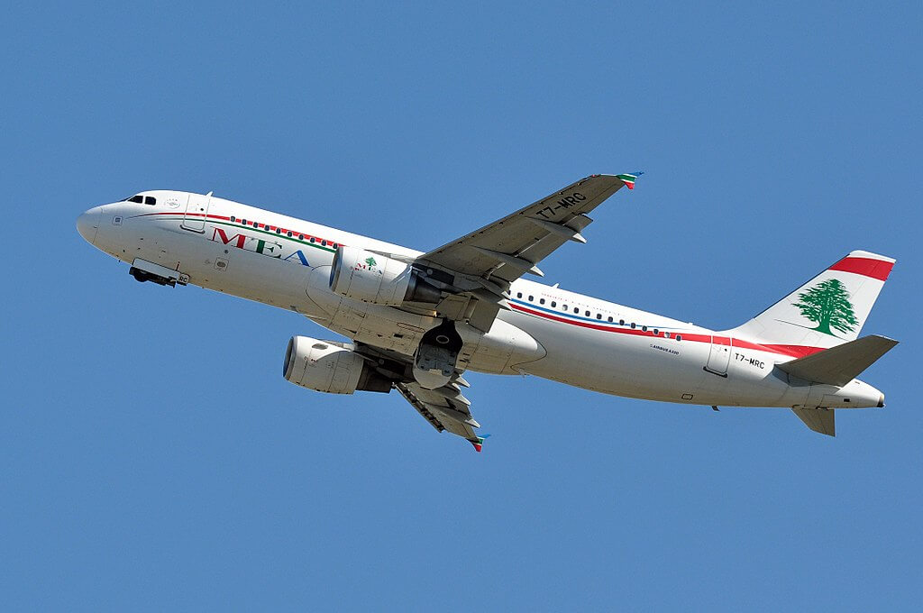 Airbus A320 200 T7 MRC Middle East Airlines MEA at Fiumicino Airport