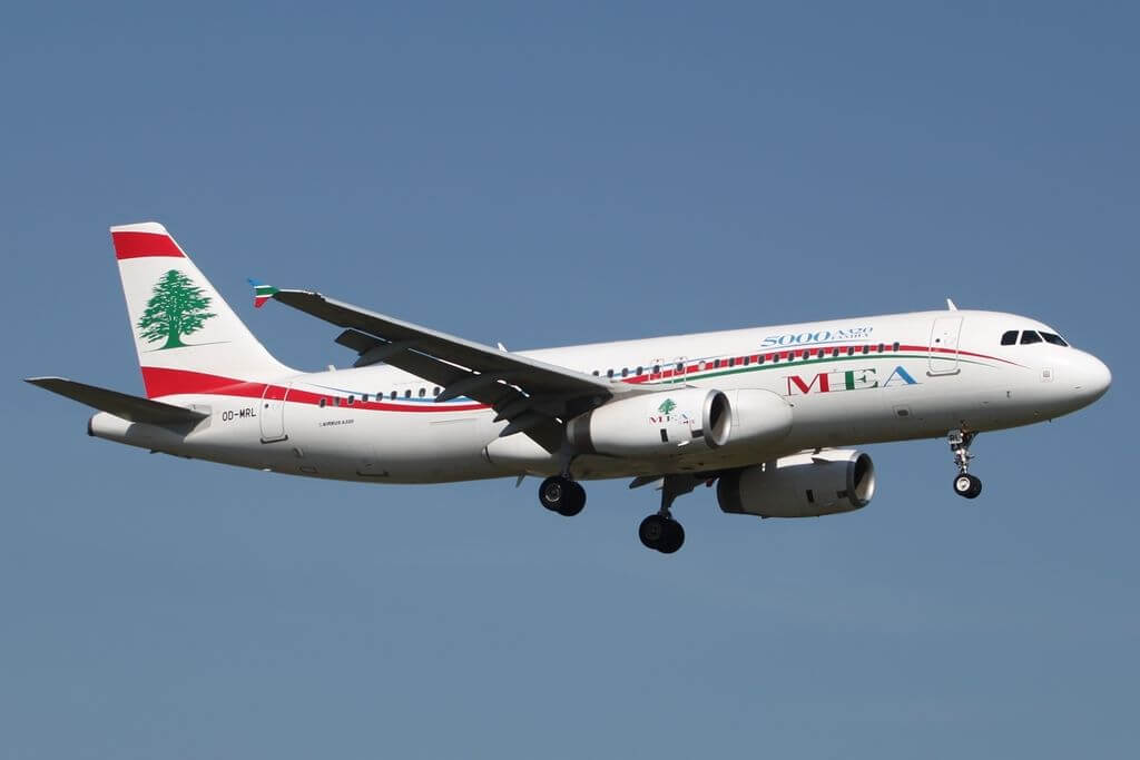 Airbus A320 232 Middle East Airlines MEA OD MRL at GVA Geneva