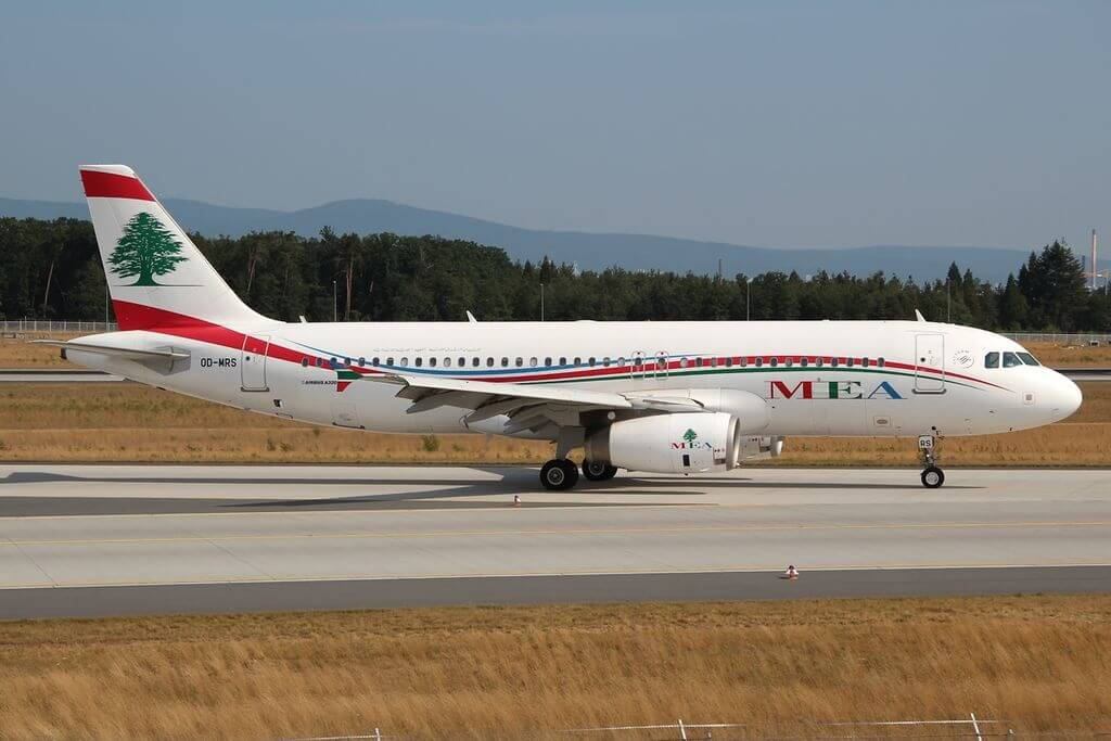 Airbus A320 232 Middle East Airlines MEA OD MRS at FRA Frankfurt Airport