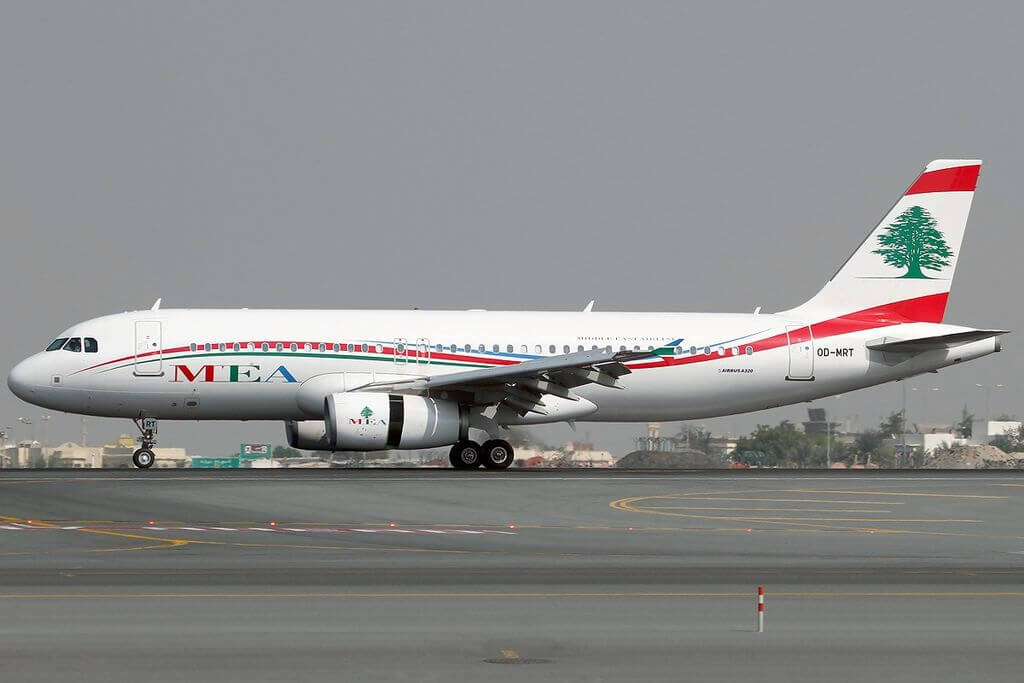 Airbus A320 232 Middle East Airlines MEA OD MRT at Dubai International Airport