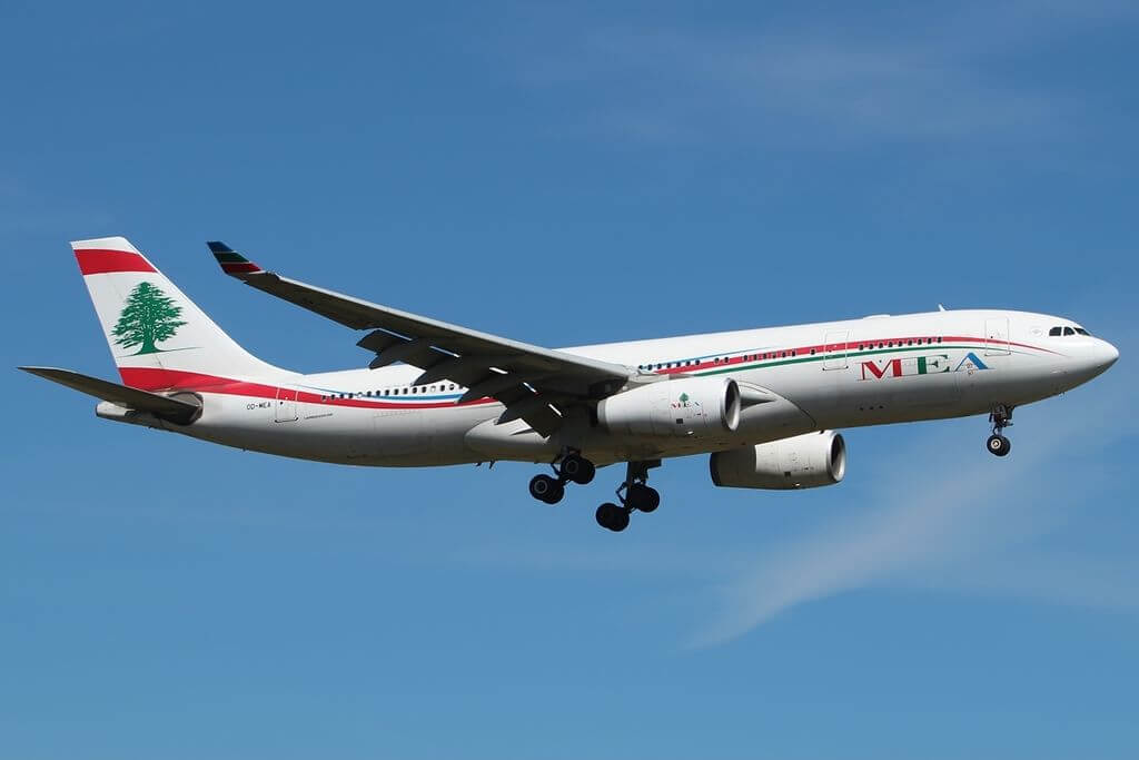 Airbus A330 243 Middle East Airlines MEA OD MEA at London Heathrow Airport