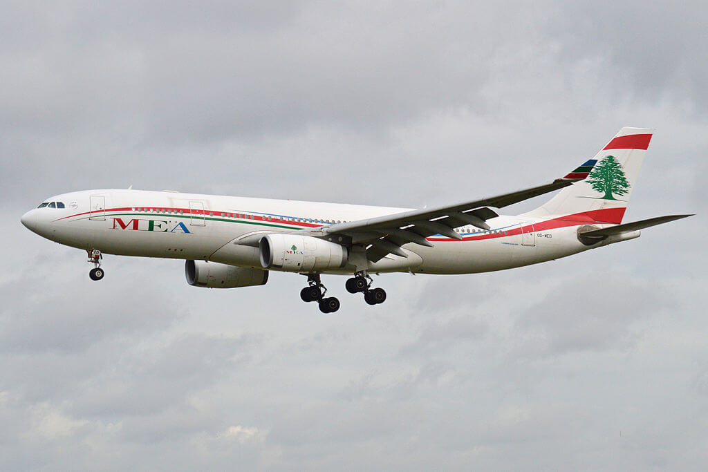 Airbus A330 243 OD MED MEA Middle East Airlines at London Heathrow Airport