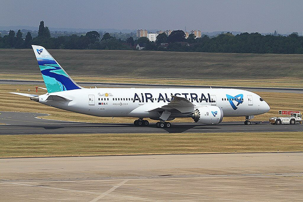 F OLRC Boeing 787 8 Dreamliner Air Austral at Birmingham Airport
