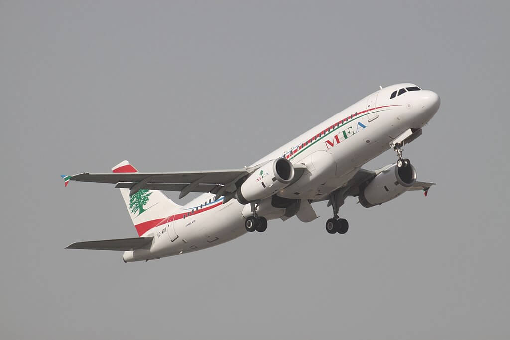 MEA Middle East Airlines OD MRR Airbus A320 200 at Dubai International Airport