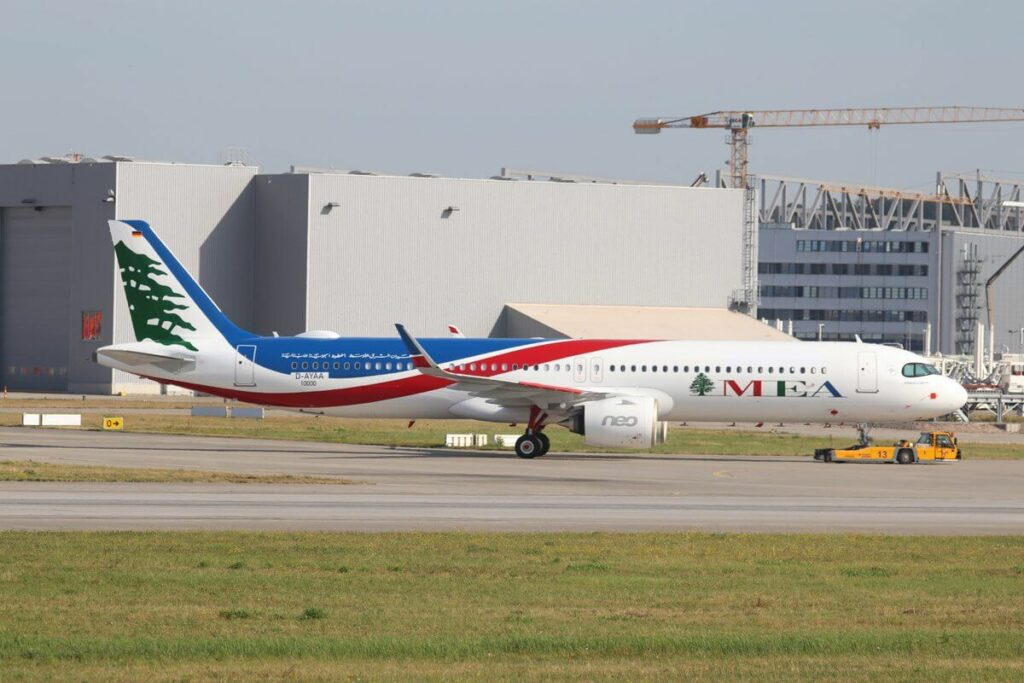 MEA Middle East Airlines T7 ME3 Airbus A321neo