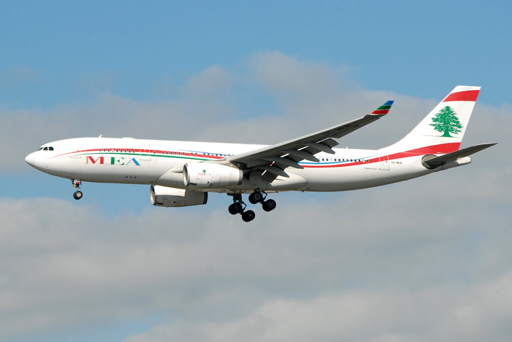 OD MEB Middle East Airlines MEA Airbus A330 243 at London Heathrow Airport